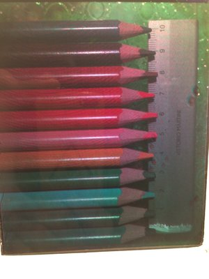 Test-shot Colour pencils RGB hologram